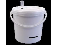 10 Litre Food Grade Plastic Bucket With Airlock & LCD Temp Indicator