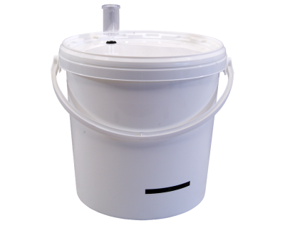 10 Litre Food Grade Plastic Bucket With Airlock & LCD Temp Indicator