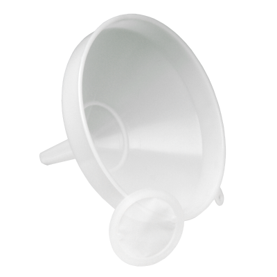 21 Cm - 8 Inch Heavy Duty Plastic Funnel With Strainer