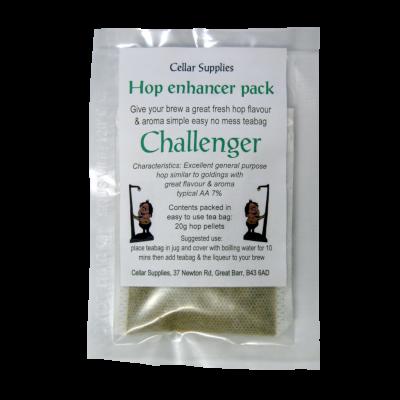 Tea Bag Hop Enhancer Pack - 20g Challenger Hop Pellets