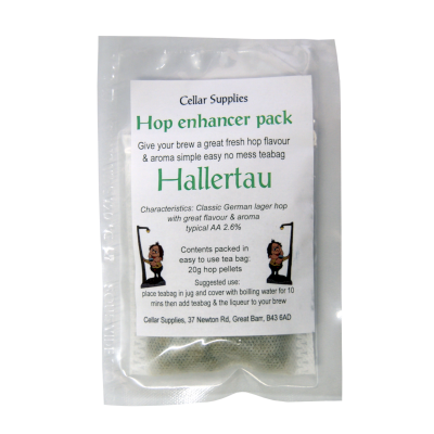 Tea Bag Hop Enhancer Pack - 20g Hallertau Hop Pellets