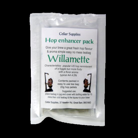 Tea Bag Hop Enhancer Pack - 20g Willamette Hop Pellets