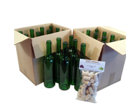 Wine Bottles Green x 24 -  750ml Glass Including Corks