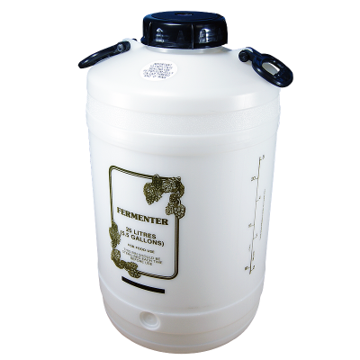 25 Litre Wide Neck Wine Fermenter With 4 Inch Cap