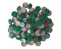 29mm Green Champagne Bottle Crown Caps With Bidul - Pack Of 100