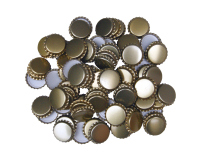 29mm (large) Crown Caps - Gold - Pack Of 100 (Not For Standard Beer Bottles)