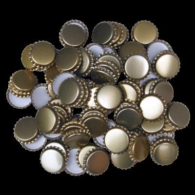 29mm (large) Crown Caps - Gold - Pack Of 100 (Not For Standard Beer Bottles)