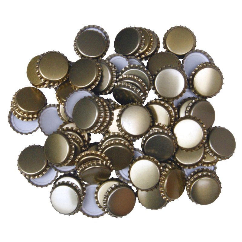 29mm (large) Crown Caps - Gold - Pack Of 100 (not For