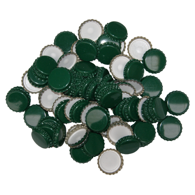 29mm (large) Crown Caps - Green - Pack Of 100 (Not For Standard Beer Bottles)