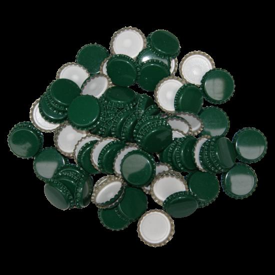 29mm (large) Crown Caps - Green - Pack Of 100 (Not For Standard Beer Bottles)