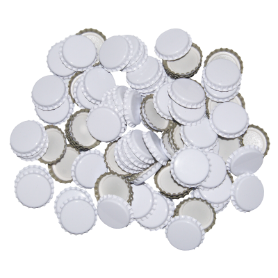 29mm (large) Crown Caps - White - Pack Of 100 (Not For Standard Beer Bottles)