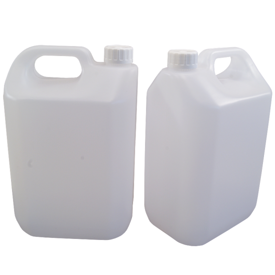 2.5 Litre (1/2 Gallon) Jerrican Style Plastic Bottle With Handle - Pack Of 2