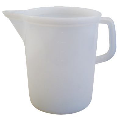 Large Heavy Duty Food Grade Plastic Jug - 5 Litre / 10 Pint