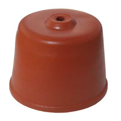 Carboy Rubber Cap 60mm With Hole - (OVERSIZE)