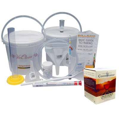 6 Bottle Wine Making Equipment Kit With Cabernet Sauvignon