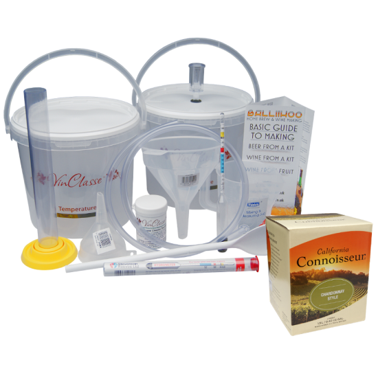 6 Bottle Wine Making Equipment Kit With Chardonnay