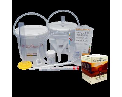 6 Bottle Wine Making Equipment Kit With Merlot