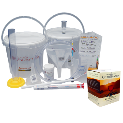 6 Bottle Wine Making Equipment Kit With Merlot