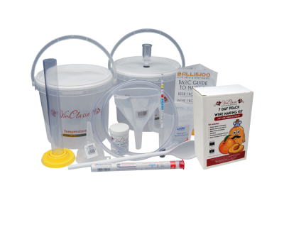 6 Bottle Wine Making Equipment Kit With Peach