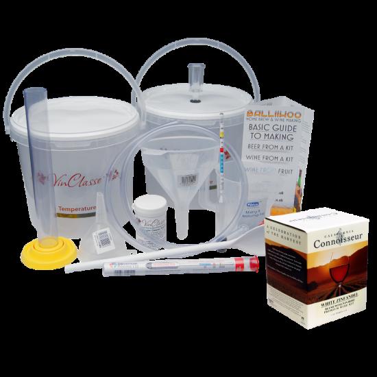 6 Bottle Wine Making Equipment Kit With White Zinfandel Rose