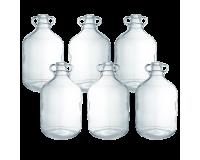 Clear Glass 1 Gallon Demijohns - Bulk Pack Of 6
