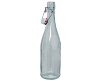 750ml Classic Style Clear Glass Swing Top Bottle