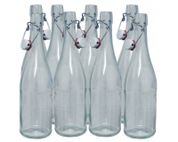 750ml Classic Style Clear Glass Swing Top Bottle - Pack of 8