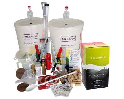 Premium 30 Bottle Wine Making Set With Rose Blush Ingredient Kit