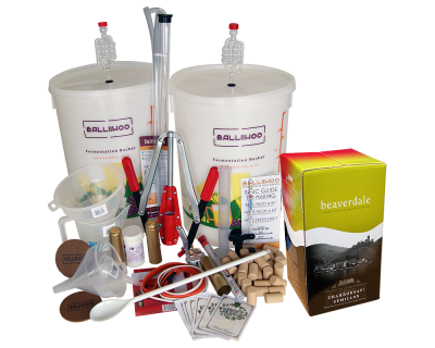 Premium 30 Bottle Wine Making Set With Chardonnay Semillon Ingredient Kit