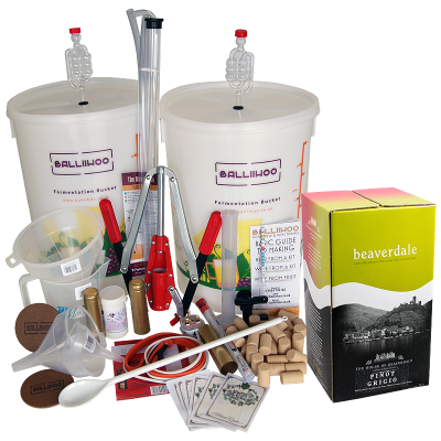 Premium 30 Bottle Wine Making Set With Pinot Grigio Ingredient Kit