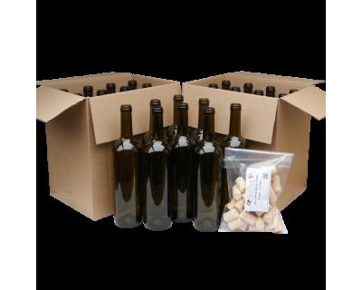Wine Bottles Green x 24 -  750ml Glass Including Corks