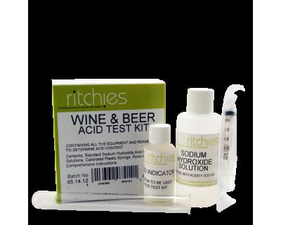 Wine & Beer Acid Test Kit - Titration Kit