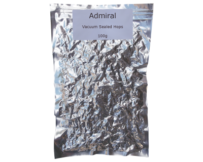 100g Vacuum Foil Packed - Admiral Whole Leaf Hops