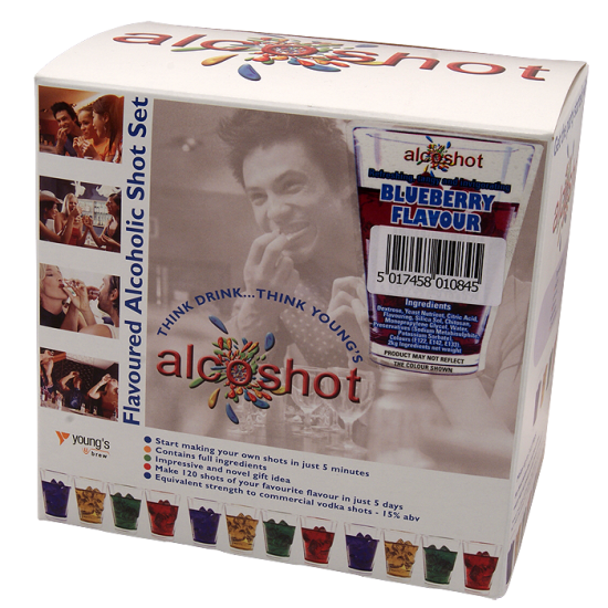 Alcoshot Refill Blueberry Ingredient Kit