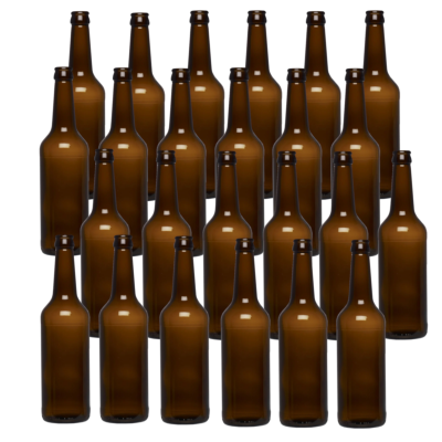 SPECIAL OFFER - Pack Of 24 x 500ml Amber Beer Bottles