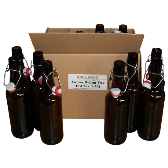 Amber Swing / Flip Top - 500ml Grolsch Style Beer Bottles x 12