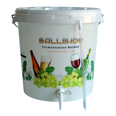 Balliihoo 30 Litre Fermentation Bucket With Tap And Bottling Stick