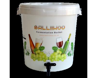 Balliihoo 30 Litre Fermentation Bucket With Lever Tap & LCD Temperature Strip