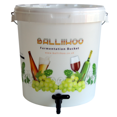 Balliihoo 30 Litre Fermentation Bucket With Lever Tap & LCD Temperature Strip