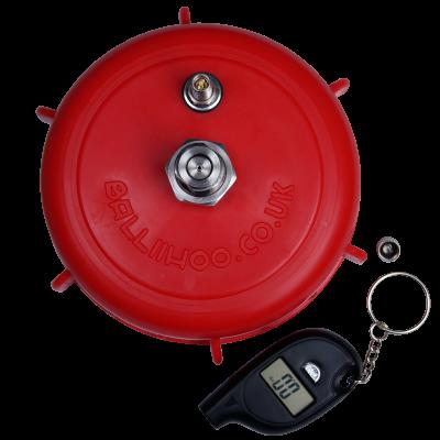 Balliihoo 4 Inch Barrel Cap With Co2 Pressure Top Up Valve And Pressure Gauge