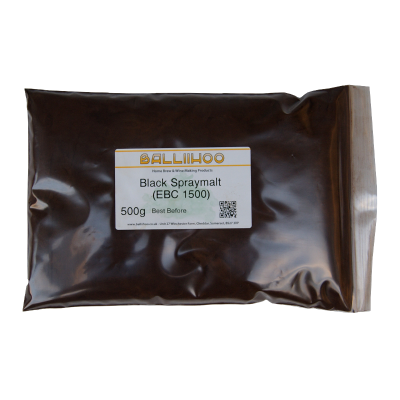 Balliihoo Black Spraymalt 500g