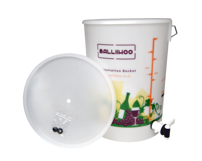 Balliihoo 5 Gallon / 25 Litre Fermentation Bucket With Lever Tap & LCD Temperature Indicator