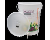 Balliihoo 5 Gallon / 25 Litre Fermentation Bucket With Tap And Bottling Stick