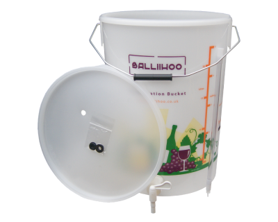 Balliihoo 5 Gallon / 25 Litre Fermentation Bucket With Tap And Bottling Stick