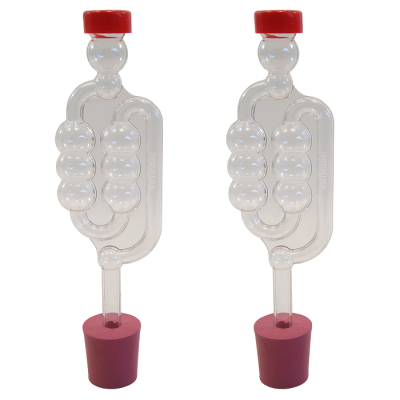 Pack Of 2 x Bubbler Airlocks To Fit Demijohn Including Bungs