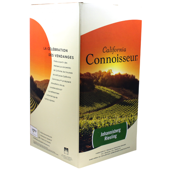SPECIAL OFFER - California Connoisseur - 30 Bottle Wine Ingredient Kit - Johannisberg Riesling - Short BBE