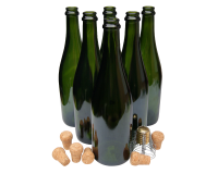 Pack Of 6 Champagne Bottles With Traditional Corks & Cages