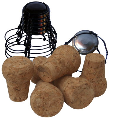 Pack Of 6 Traditional Champagne Corks & Cages / Wires