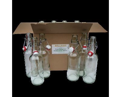 Clear Swing Top 500ml Beer Bottles x 12