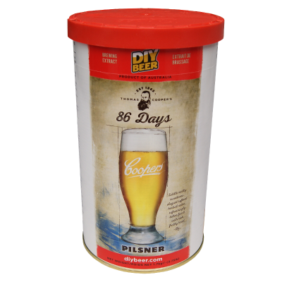 SPECIAL OFFER - Coopers 86 Day Pilsner - 40 Pint Ingredient Kit - Dented Tin